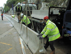 Concrete Safety Barriers (Delta Bloc) - view bigger image