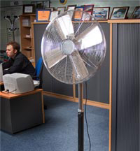 Pedestal Mount Fan - view bigger image