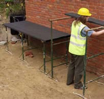 Steel Trestles & Scaffold Boards - view bigger image