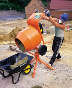 Tip-Up Concrete Mixers